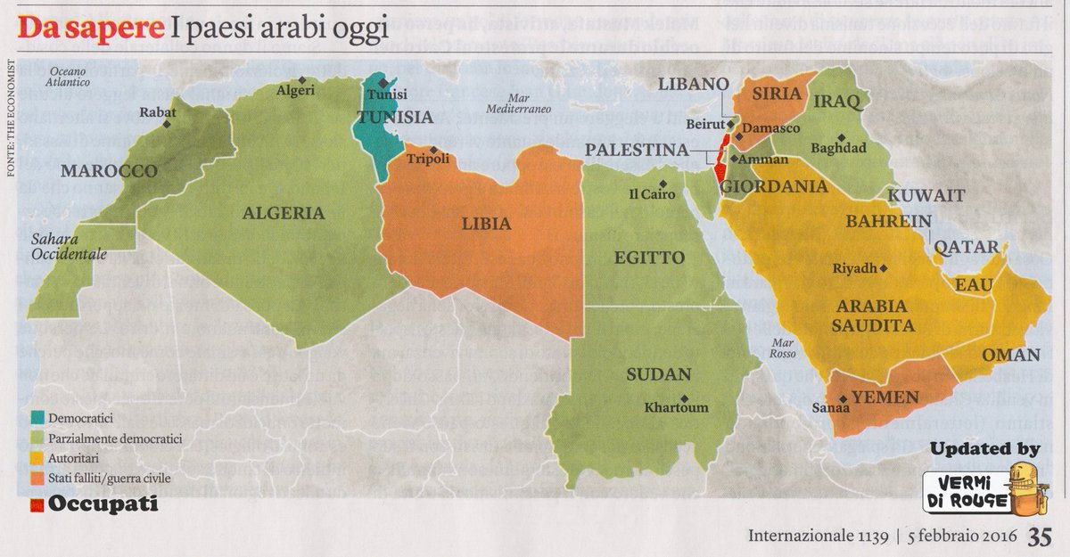 Mondo Arabo Cartina.Rouge On Twitter I Paesi Arabi Oggi Ho Trovato Questa Bellissima Mappa Sull Internazionale L Ho Aggiornata Palestina Https T Co Grekbcbtma