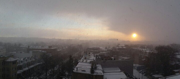 Snow Squall Sunrise! cc: @capitalweather https://t.co/OYanOKGmfC