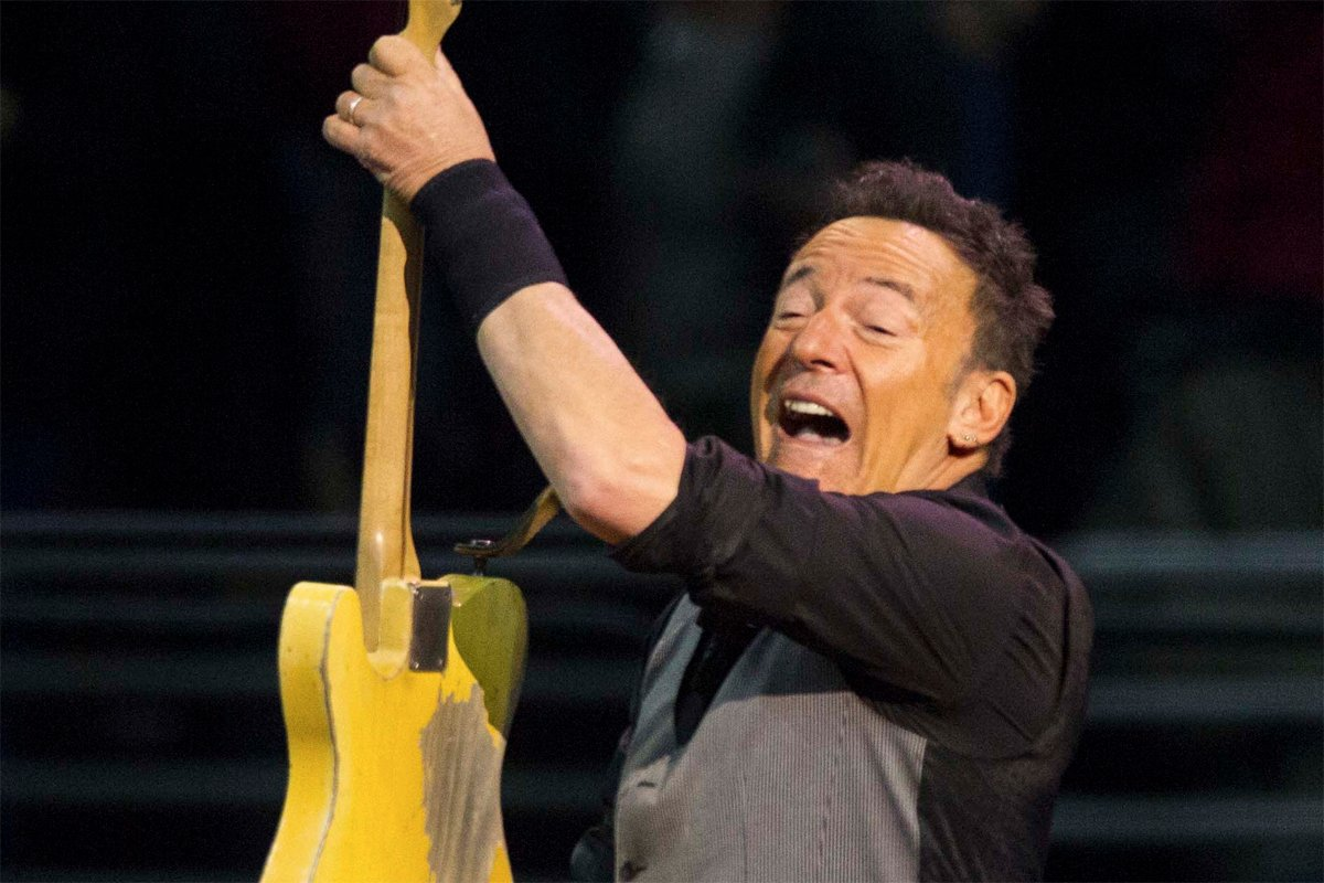 Springsteen was full of enthusiasm in Philly last night