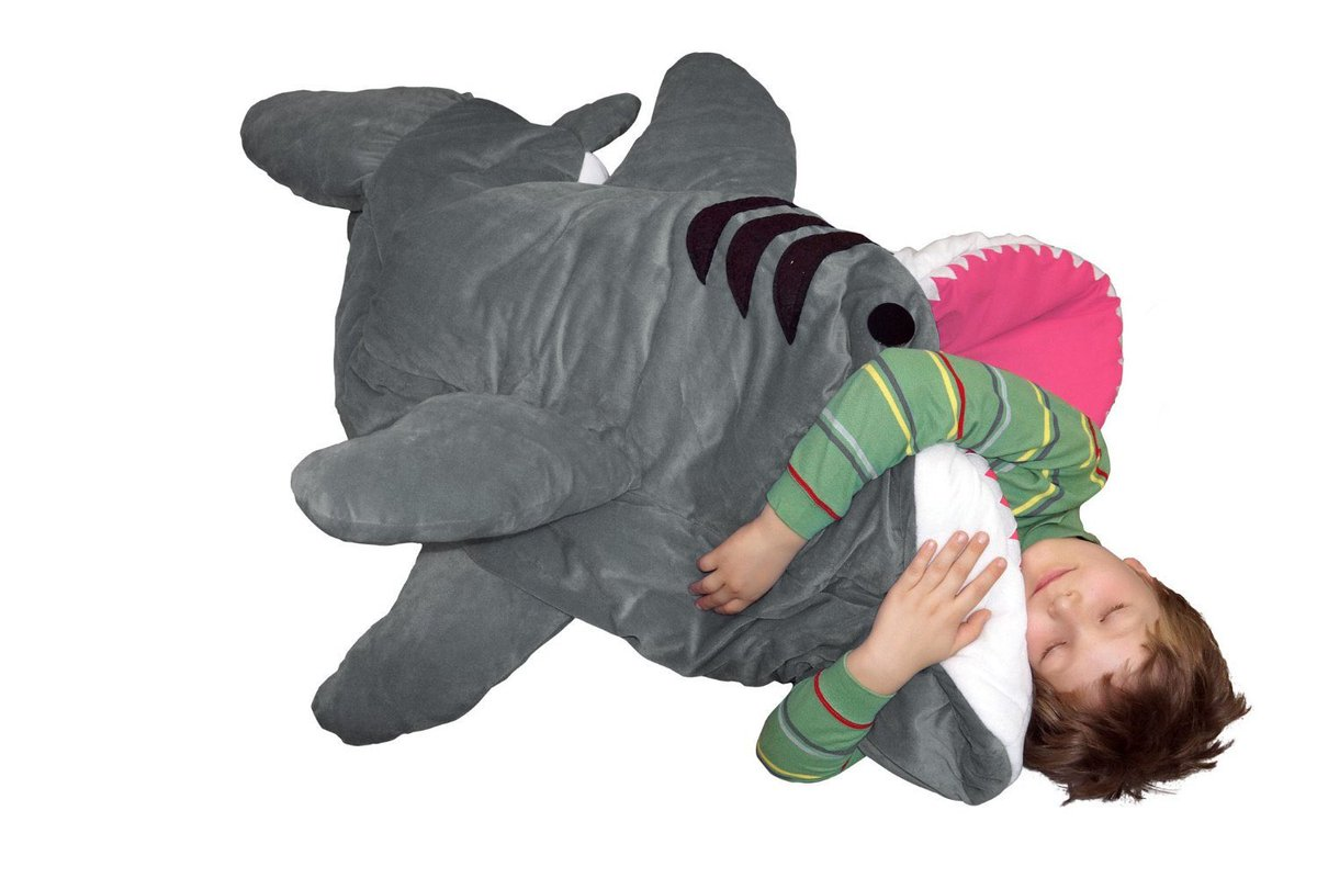 J W Cannon On Twitter A Plush Shark Sleeping Bag You Crawl Inside Of The Boy Is Totally Getting One These Https T Co Oy68kgwuu8