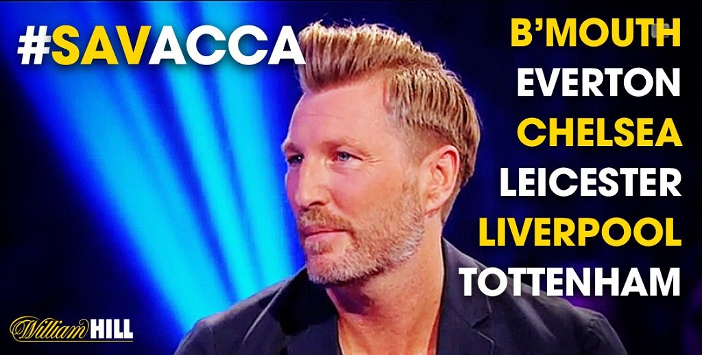 RT @WillHillBet: Do you agree with @RobbieSavage8's predictions for this week's #SavAcca? Enter now: https://t.co/82TBwoNAB0 https://t.co/R…
