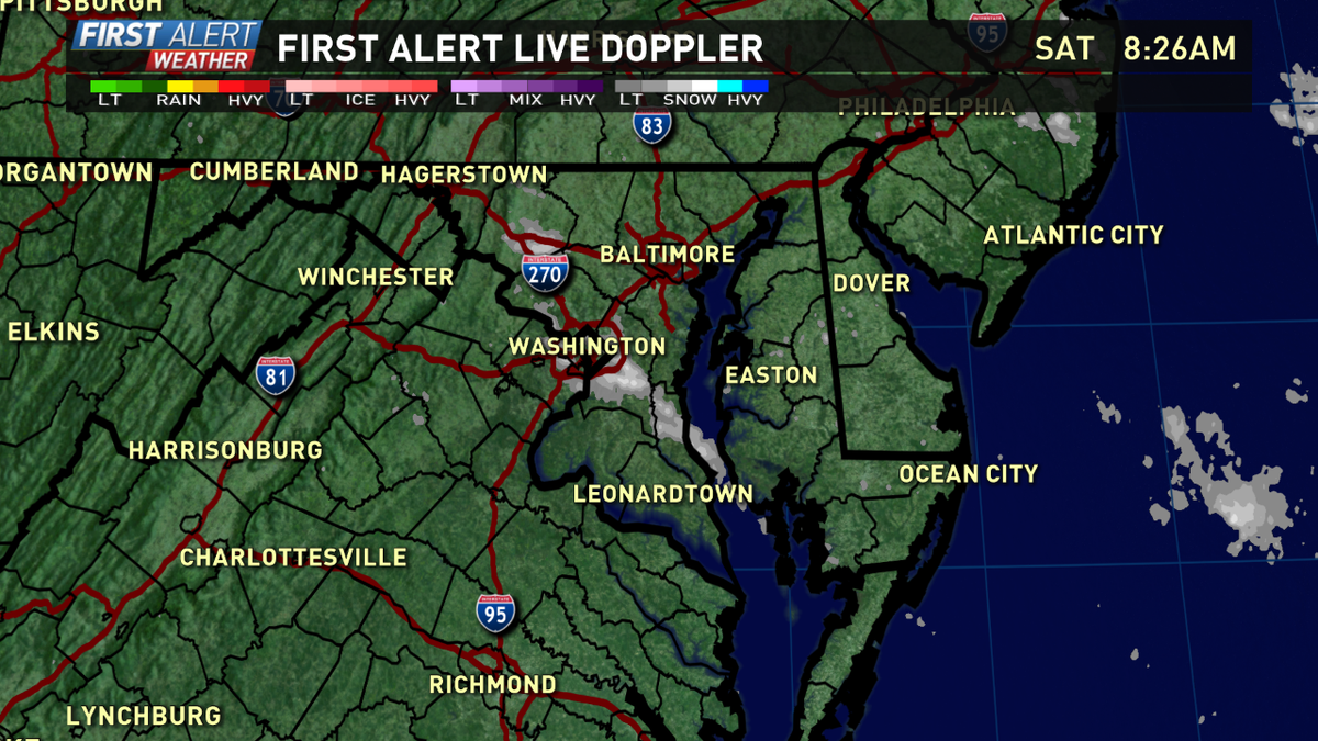 Isolated snow squalls this morning will drop a quick coating and reduce visibility. Roads may be slick. @wusa9