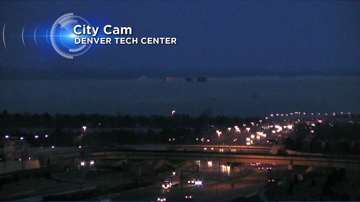 LOOK CLOSE! You'll see a blanket of fog over Denver w/ just the building peaking out! More on CBS4 7-8a COwx 4wx