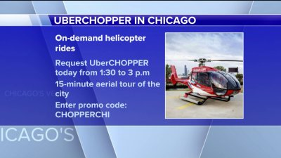 Uber offering free helicopter rides today, just enter the promo code CHOPPERCHIDetails