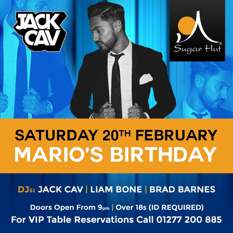 Only a week to go until we celebrate @Mario_Falcone Birthday @sugarhut .... Limited tables available https://t.co/WPazFSeAIi