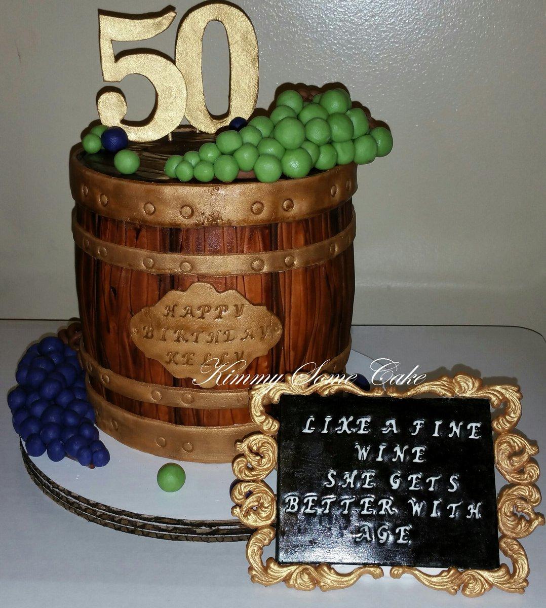 Kimberly Roy On Twitter Wine Barrel 50th Birthday Cake All
