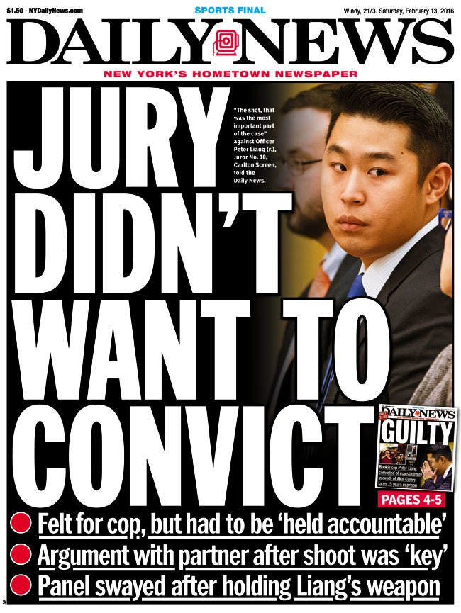 Today's front page...JURY DIDN'T WANT TO CONVICT Read more