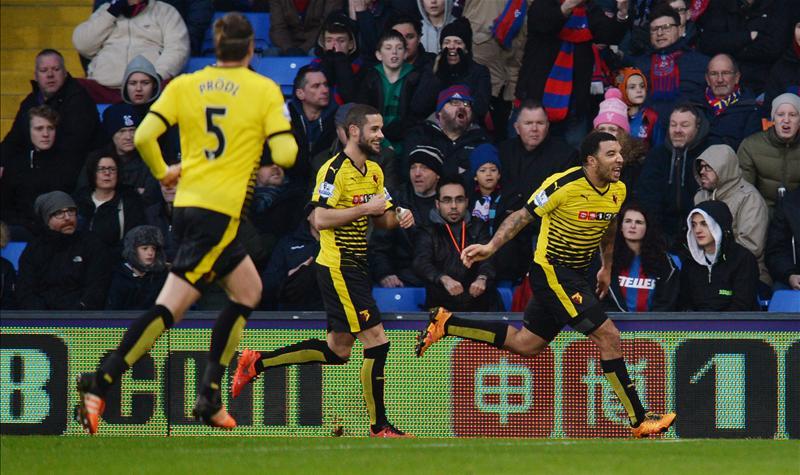 Deeney em seu segundo gol pelo Watford