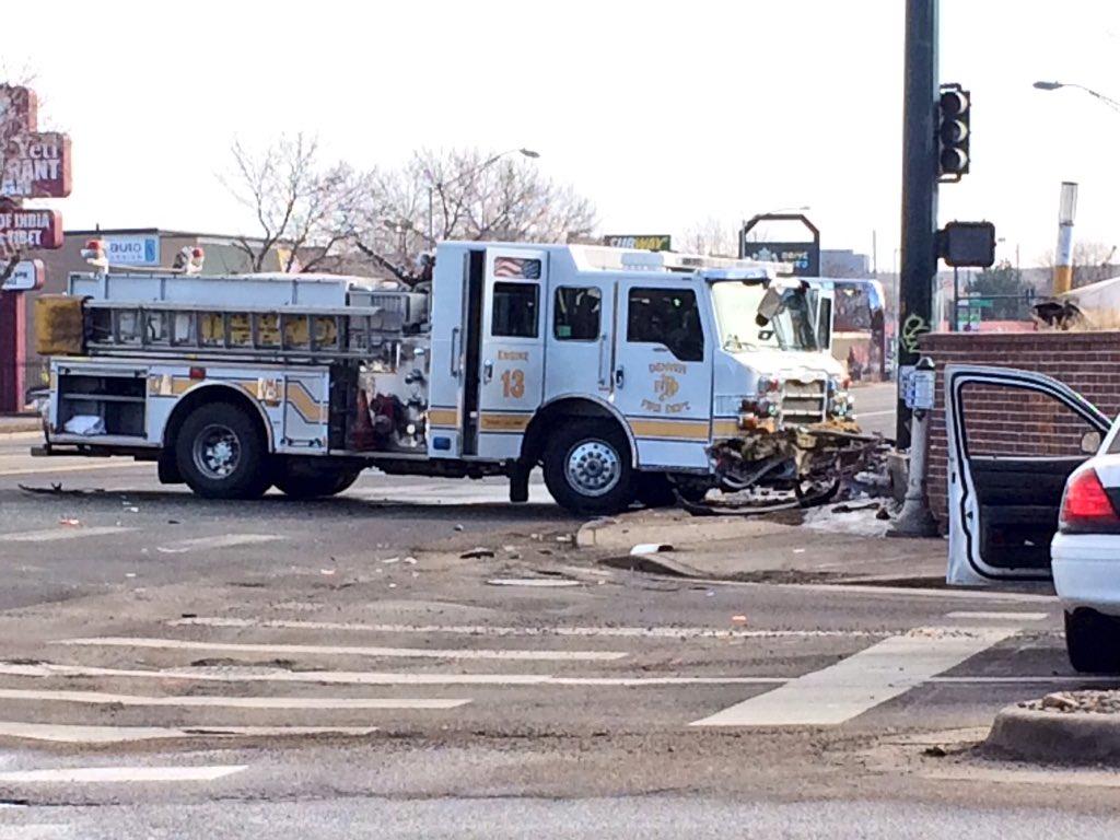 Denver Fire truck involved in crash