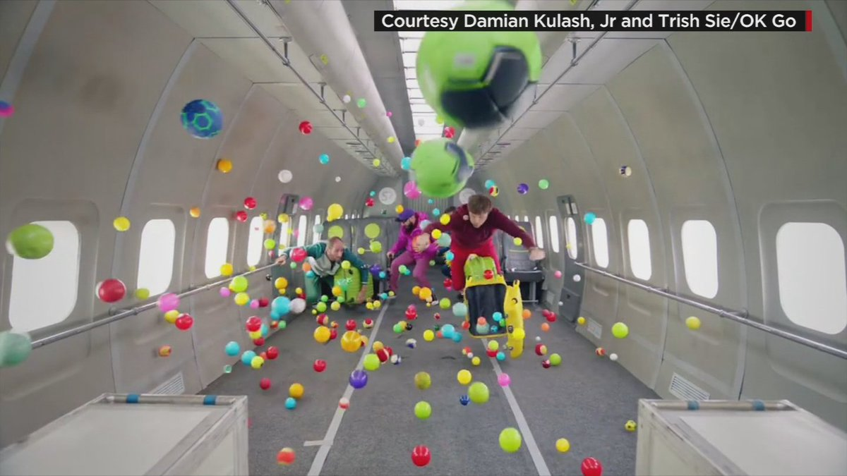 So cool! @okgo defied gravity in their new music video. Find out how they put it together! CBS4Mornings