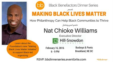 Join us for dinner & Black philanthropy w/ Hill-Snowdon Foundation on 2/16: https://t.co/M8OpWUFNz0 #bbdinner https://t.co/QGBT451jSs