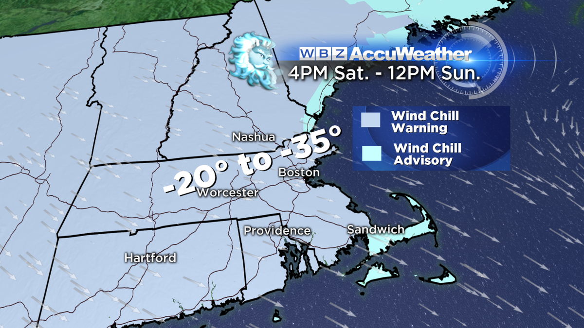 It'll feel like between -20 and -35 degrees for Valentine's Day. (via @PamelaWBZ4)