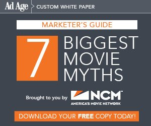 Free Ad Age White Paper: Debunking the Seven Myths of Cinema Advertising https://t.co/VXFIfpqMck https://t.co/jMQapw41n6