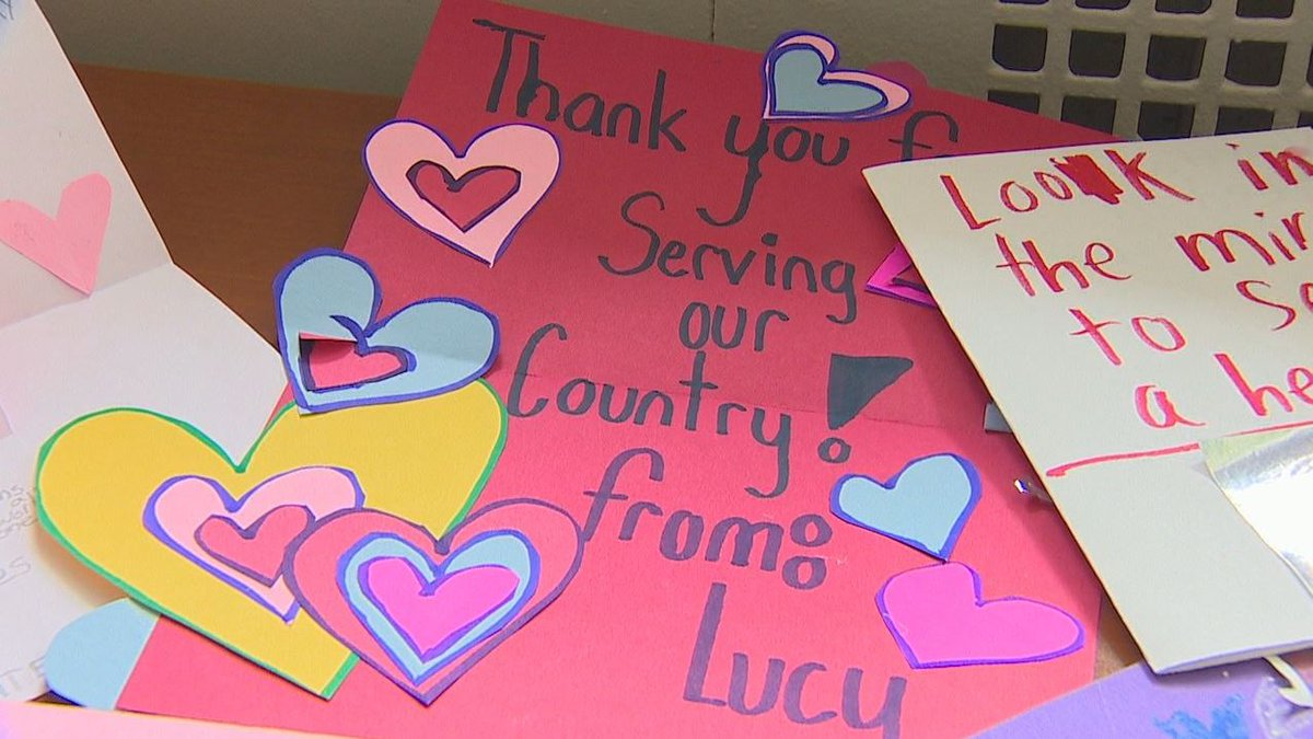 Students craft hundreds of Valentine's Day cards for local veterans -