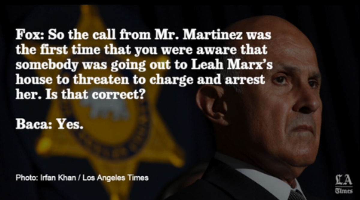 Audio: Listen to the 3 lies that Sheriff Lee Baca allegedly told to federal prosecutors
