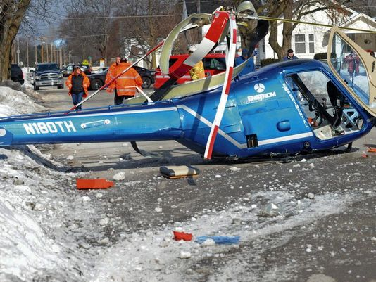 Helicopter makes crash landing in UP; pilot unhurt