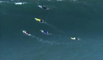 Nic Lamb of SantaCruz wins titansofmavericks surf competition