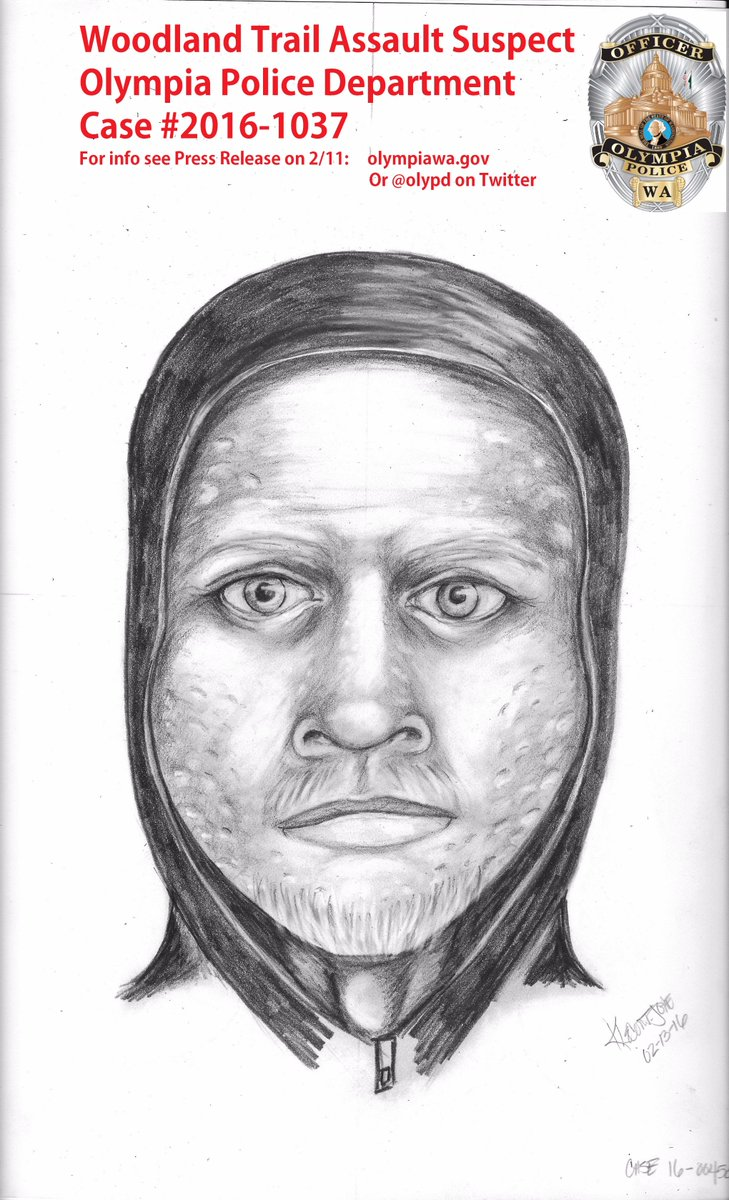 Sketch of the Woodland Trail Assault Suspect from 2/10/16. See pic & here's the info again