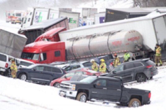 Pileup involving over 50 vehicles has closed snowy Interstate 78 in Pennsylvania >>