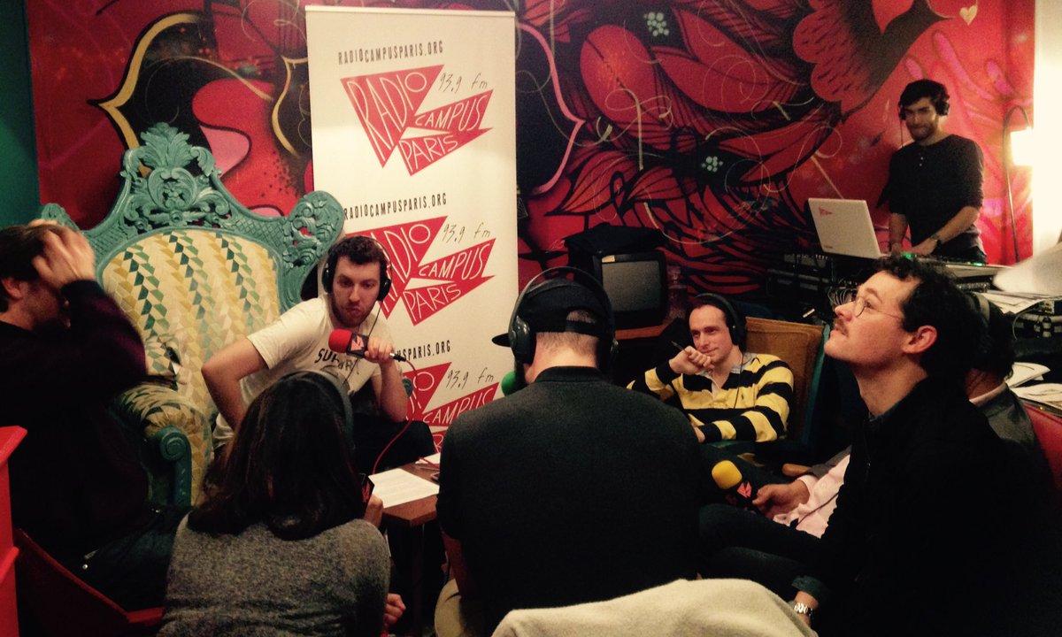 RT @campusparis Toujours au @PavillonCanaux : émission spéciale Radios Associatives avec @radiocampus, le GRER et @lafradif