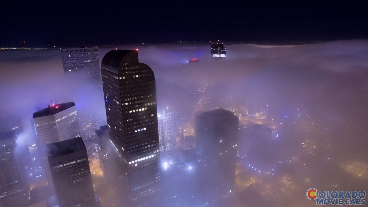 What an amazing pic of the Denver fog from @COmoviecars! 9News