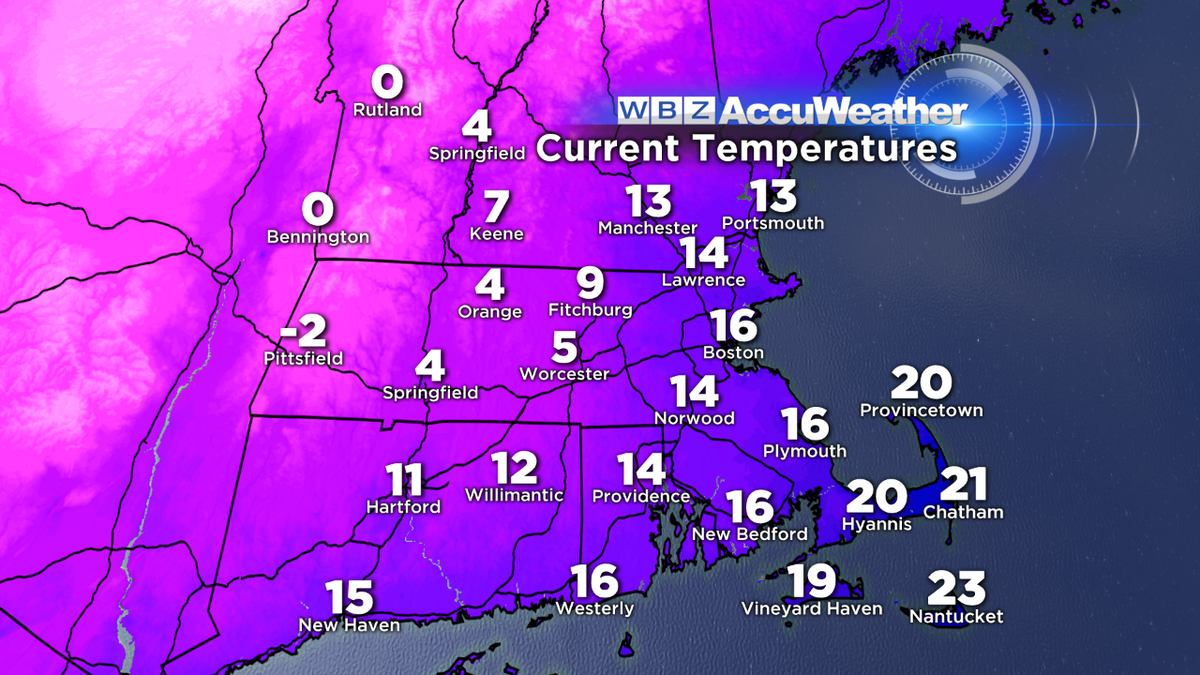 The Berkshires have already gone subzero. Coming soon to central MA after the sun goes down. wbz