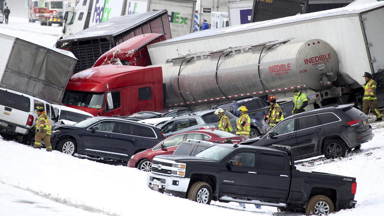 Multiple fatalities reported in Pennsylvania pileup involving more than 50 vehicles