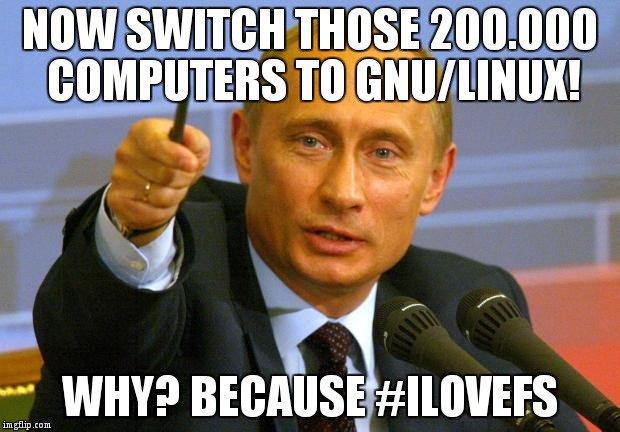 Russland und China setzen auf Linux