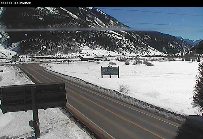 ALERT: US 550 Red Mountain Pass closed for avalanche in Silverton area at MM 70. Pic from CDOT cam in area.