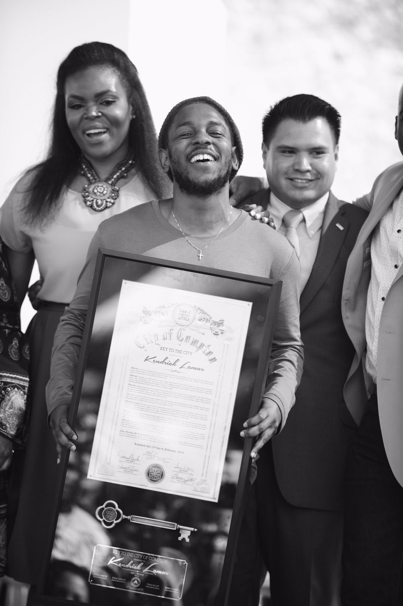 Congratulations @kendricklamar , well deserved! #KeytoCPT https://t.co/kEHH76K7xB