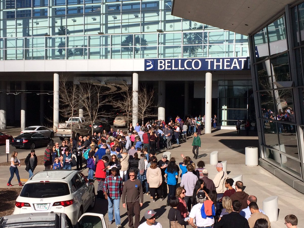 Thousands of people lining up for BernieInDenver 9News