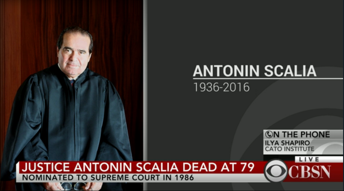 WATCH: @CBSNLive coverage of Supreme Court Justice Antonin Scalia's passing