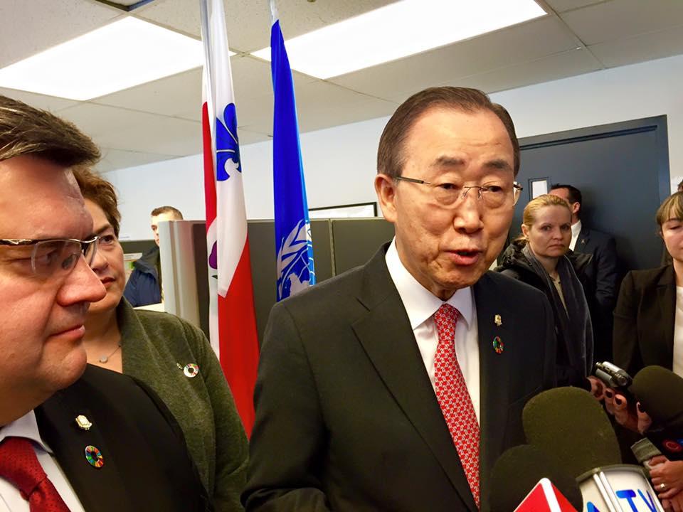 Ban Ki-moon cite le Centre de prévention de la radicalisation de Montréal en exemple