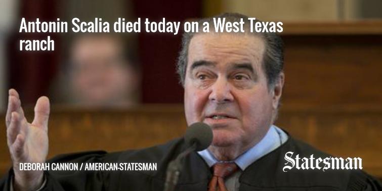 Antonin Scalia found dead on West Texas ranch