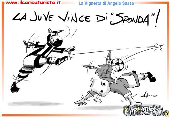 La Juventus vince di sponda