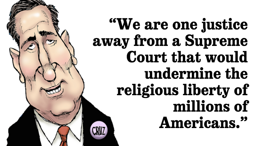 Ted Cruz on the importance of the next president in relation to the U.S. Supreme Court