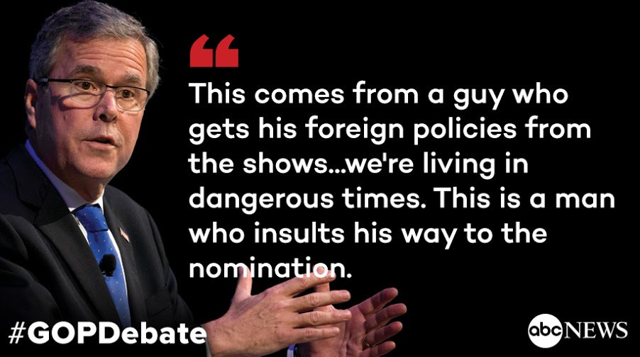 @jebbush hits @realDonaldTrump: