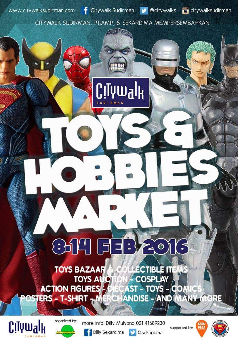 S/d HARI INI Minggu 14 Feb '16 #acaraseru @Citywalks @sekardima Toys & Hobbies Market https://t.co/nnn0YSLanF