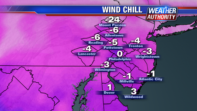 At or below zero almost everywhere now with the wind chill. Waiting for Nascar to end on @FOX29philly then an update