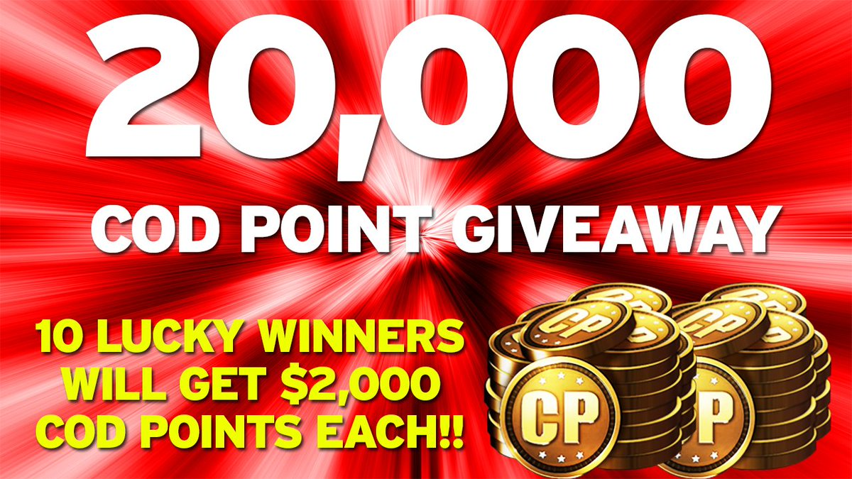 Giving away 20,000 COD POINTS on Feb 21st, follow @DraftHelpers & RT this to enter,good luck! 10 Winners, 2,000 each