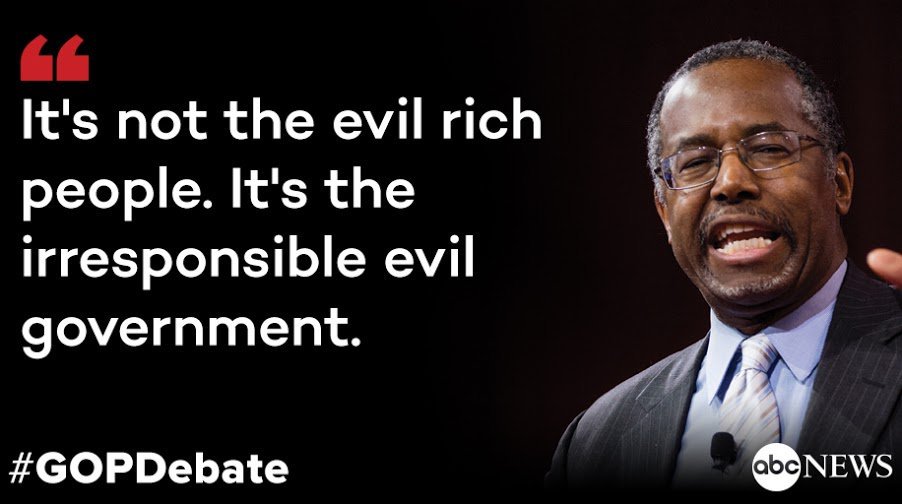 @RealBenCarson says Democratic candidates blame everything on