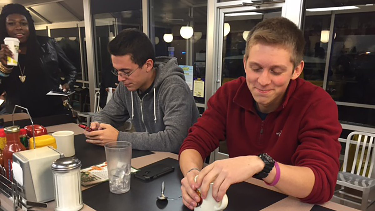 North Carolina student loses bet, spends 30 hours in Waffle House