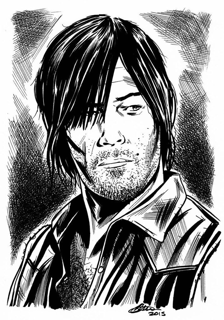 Happy #WalkingDead  Day @WalkingDead_AMC  @wwwbigbaldhead  art by @davidgoldingart #DarylDixon https://t.co/fhw7Hj0AkO