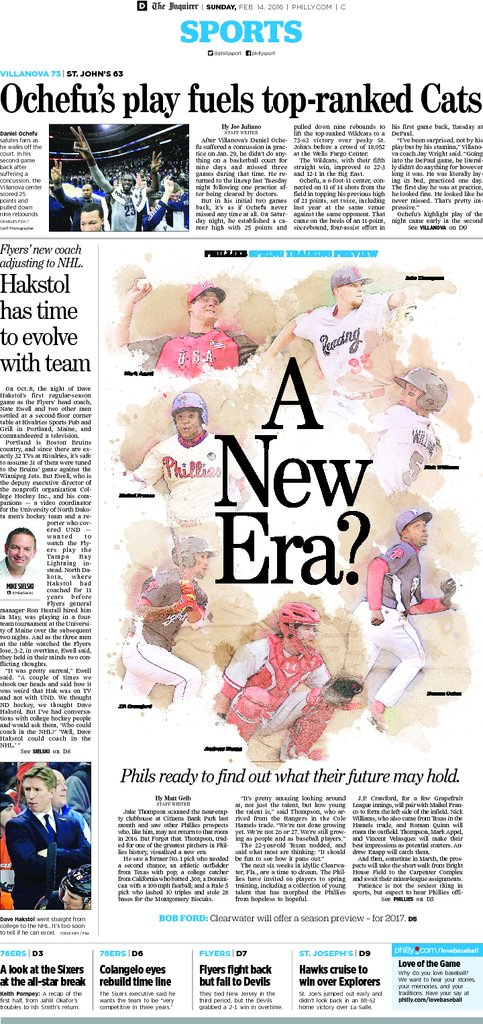 From today's Inquirer, 02/14/16