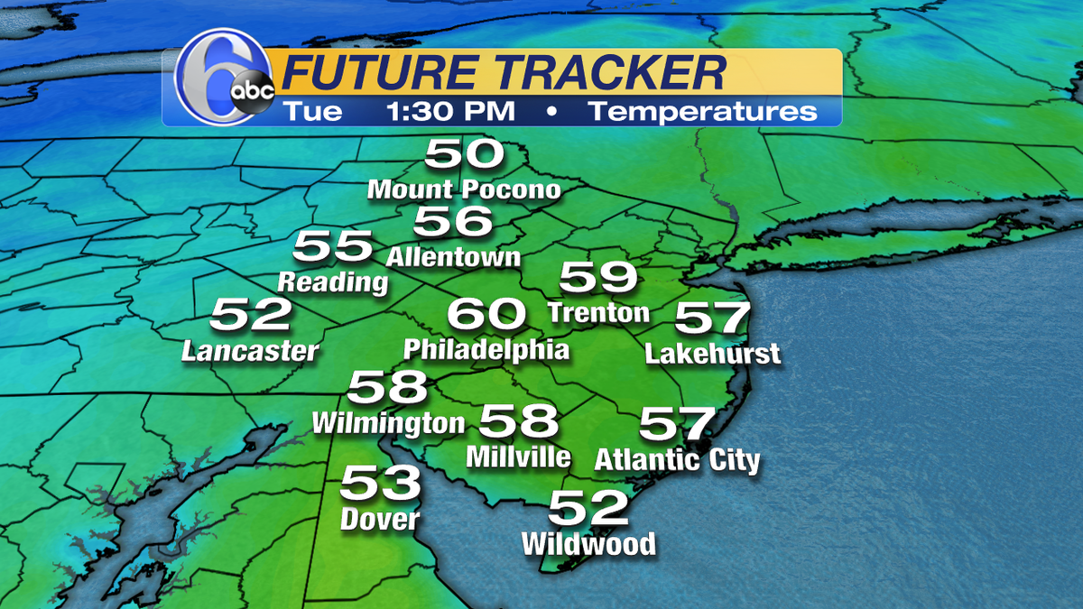 It's cold out there right now, but look at this! A little more than 48 hours from now temps sky-rocket!