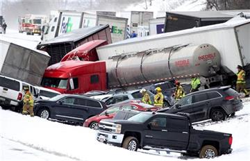 Police: 3 killed, scores to hospitals after huge pileup in PA >