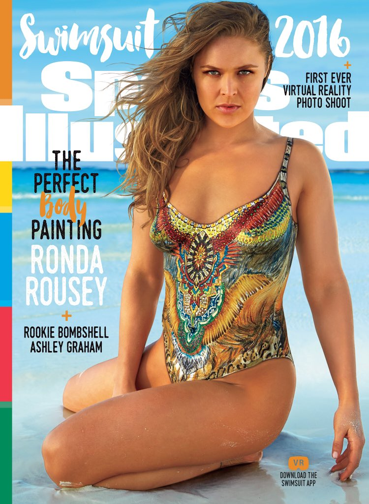 Ronda Rousey in body paint