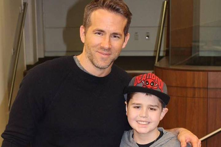 Ryan Reynolds visits Edmonton with Deadpool movie for boy in hospital