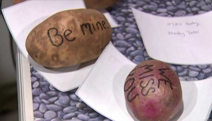 That's one way to show love: Company sends out ValentinesDay potatoes >