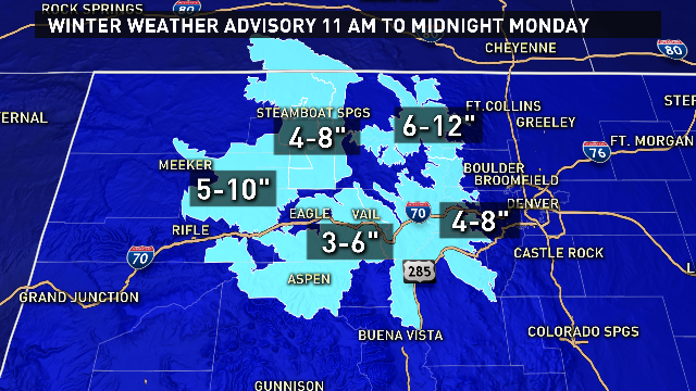 Finally some snow for the mountains. The drive on I-70 this afternoon could be snowy. @9News 9wx
